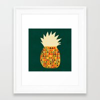 pineapple Framed Art Prints featuring Pineapple by Picomodi