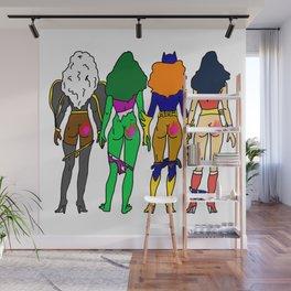 Superhero Butts Love 2 - Team Girls Wall Mural