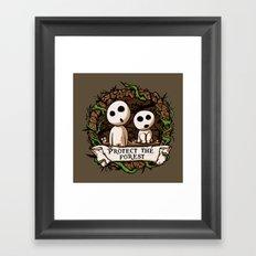Save Kodamas V2 Framed Art Print