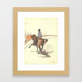 "Henri de Toulouse-Lautrec ""At the Circus: The Spanish Walk"" Framed Art Print"