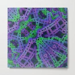Green and purple film ribbons Metal Print