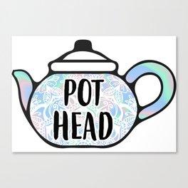 Pot Head Teapot Canvas Print