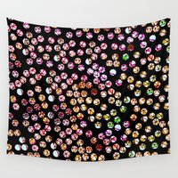 polka dots Wall Tapestries featuring Polka Dots by Take F1ve