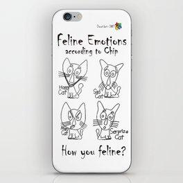 Feline Emotions iPhone Skin