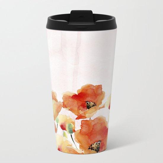 Beautiful Poppies #society6 Metal Travel Mug
