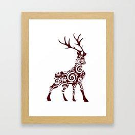 ornamental stag Framed Art Print