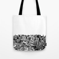 cityscape Tote Bags featuring Cityscape by Nip Rogers