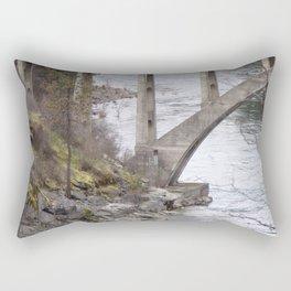 Old Bridge Over River, Vintage Concrete Bridge Rectangular Pillow