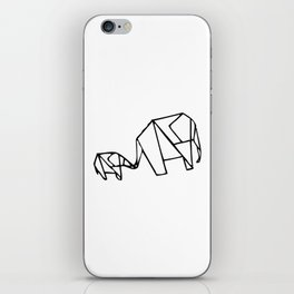 Origami Elephants (mom and baby) iPhone Skin
