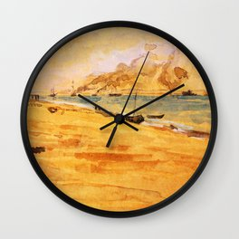 Study For Mouth Of The River 1877 By James Mcneill Whistler   Reproduction Wall Clock