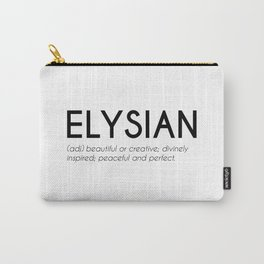 Elysian - Greek Beautiful Word Carry-All Pouch