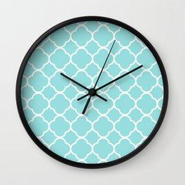 Limpet Shell Blue Quatrefoil Wall Clock