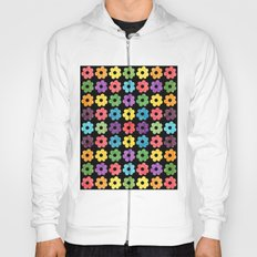 Colorful Floral Pattern V Hoody