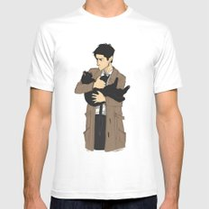 Castiel's Cat LARGE Mens Fitted Tee White