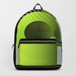 green and other colors - framed Backpack