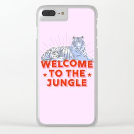 welcome to the jungle - retro tiger Clear iPhone Case