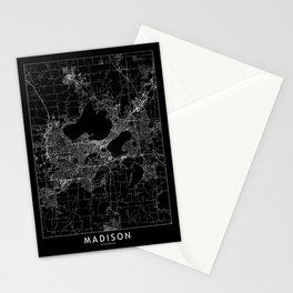 Madison Black Map Stationery Cards