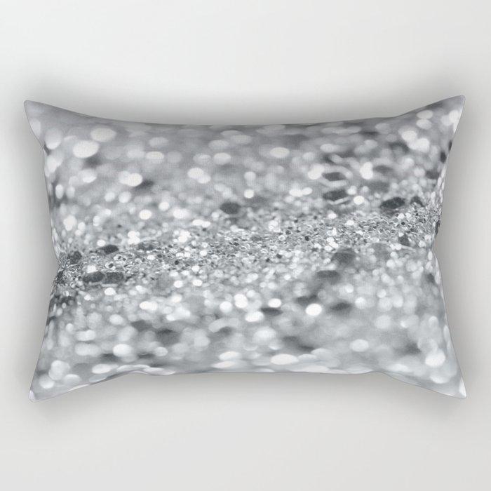 Silver Gray Lady Glitter #1 #shiny #decor #art #society6 Rectangular Pillow