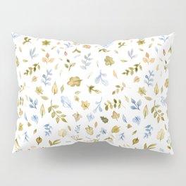 Watercolor Leaf Pattern Pillow Sham