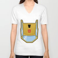 transformers V-neck T-shirts featuring Transformers - Sunstreaker by CaptainLaserBeam