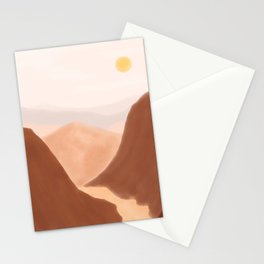 Landscape Mountains Aesthetic Stationery Cards