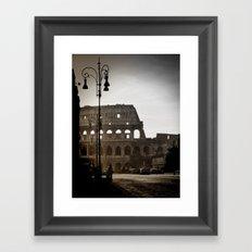 Early Morning at the Coliseum Framed Art Print