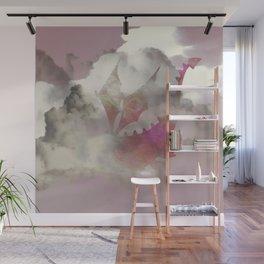 Pink Cloud Dragon Wall Mural