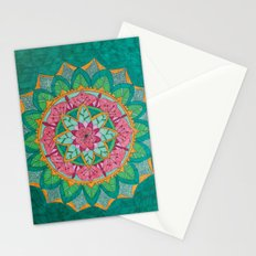 Pink Flower Mandala Stationery Cards