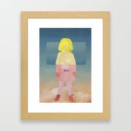 Sky girl  Framed Art Print