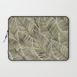 Tropical Leaves – Taupe Palette Laptop Sleeve