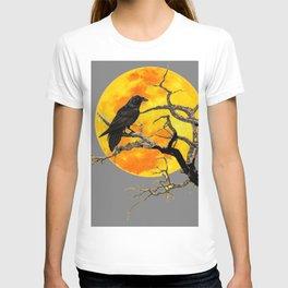FULL MOON & RAVEN ON DEAD TREE T-shirt