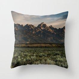 Teton Morning Throw Pillow