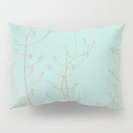 Teal Aquamarine Turquoise Abstract Nature Pillow Sham