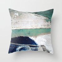 surf Throw Pillows featuring Surf by Bella Blue Photography