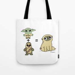 The origin of pugs Tote Bag