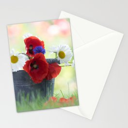 Poppies Symphonies Stationery Cards