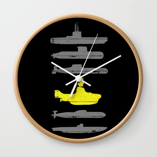 Know Your Submarines Wall Clock