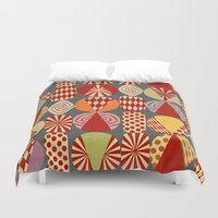 blankets Duvet Covers featuring christmas tree MINIMALIST by Chicca Besso