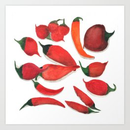 Assorted Peppers no.1 Art Print