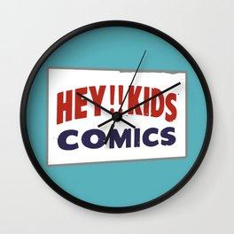 Hey Kids! Vintage Comic Spinner Rack Sign Wall Clock