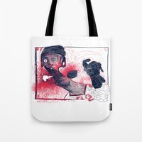 hockey Tote Bags featuring Hockey! by Dushan Milic