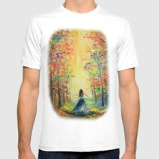 towards the sun White Mens Fitted Tee MEDIUM