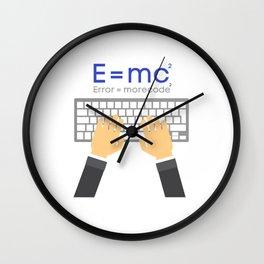 E=mc programmer joke shirt Wall Clock