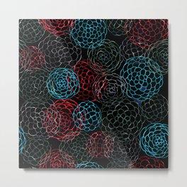 Seamless Patern Painting [RED | BLUE] Metal Print