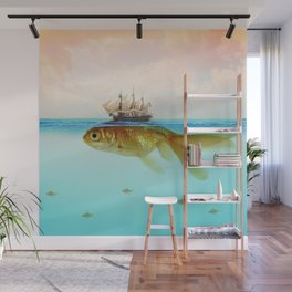 Goldfish Tall Ship Wall Mural