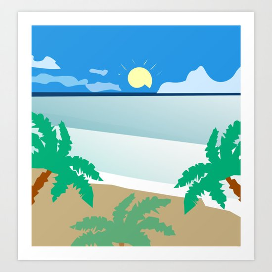 Tropical beach Art Print