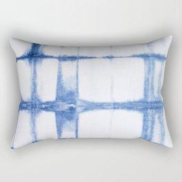 Shibori Blue - Rectangles Rectangular Pillow