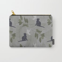 peace and joy gray Carry-All Pouch