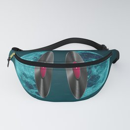 Moon and vinyl Fanny Pack