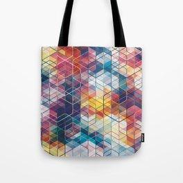 Cuben Curved #5 Geometric Art Print. Tote Bag